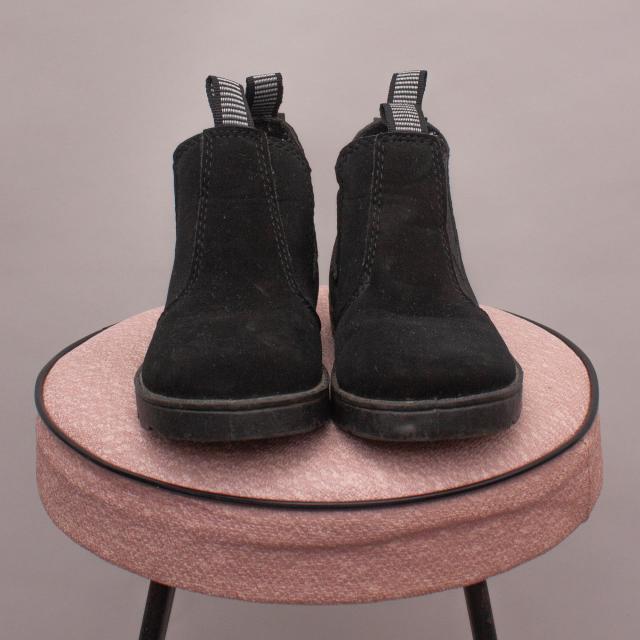 Black Slip On Boots - UK 6