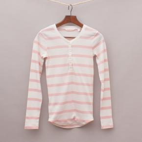Country Road Striped Long Sleeve Top