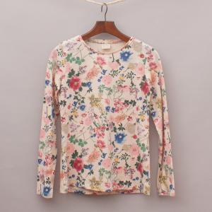 Zara Floral Long Sleeve Top