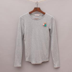 Country Road Pom Pom Long Sleeve Top