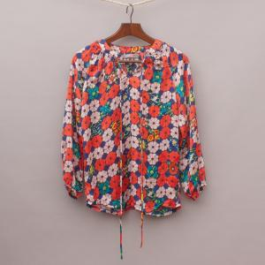 One Red Fly Floral Blouse