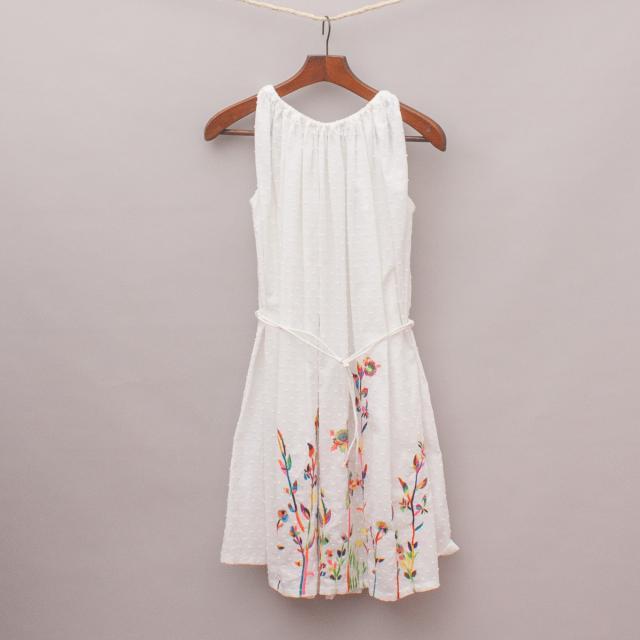 Megan Park Embroidered Dress