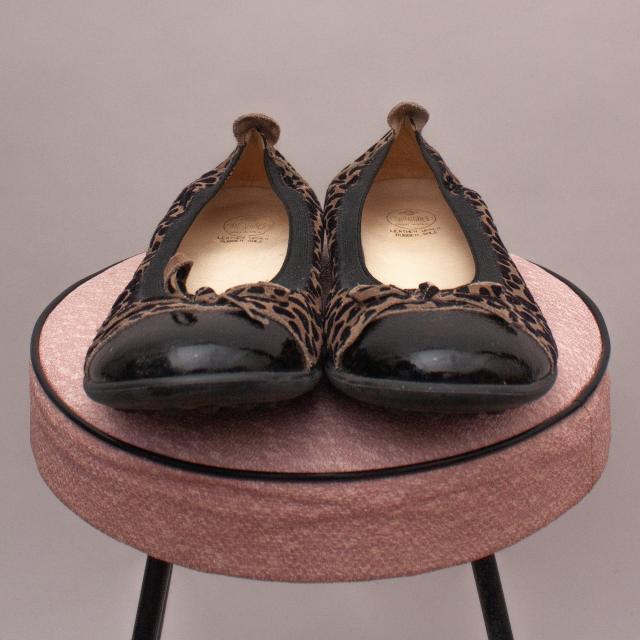 Andanines Leopard Ballet Flats - EU 34