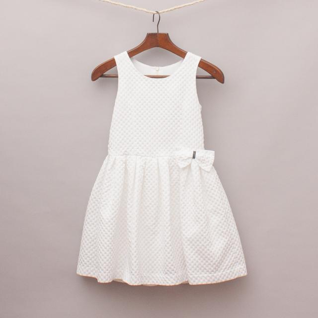 Junior Gaultier Textured White Dress