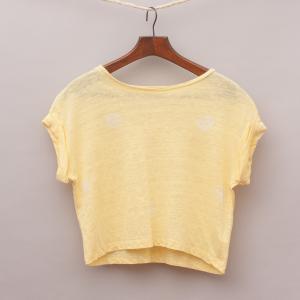 Witchery Yellow Cropped T-Shirt