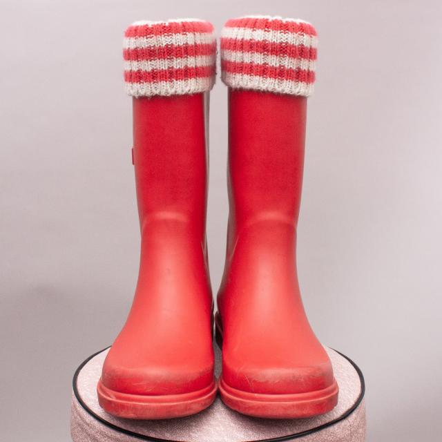 Country Road Red Gumboots - Size EU 32