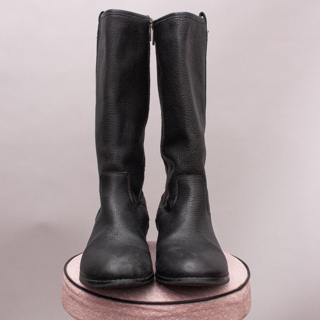 Country Road Black Leather Boots - Size EU 36