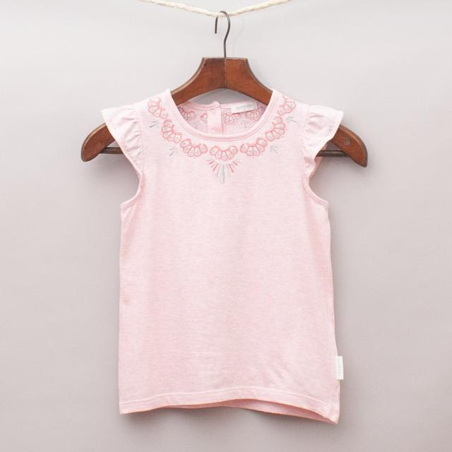 Purebaby Embroidered Singlet