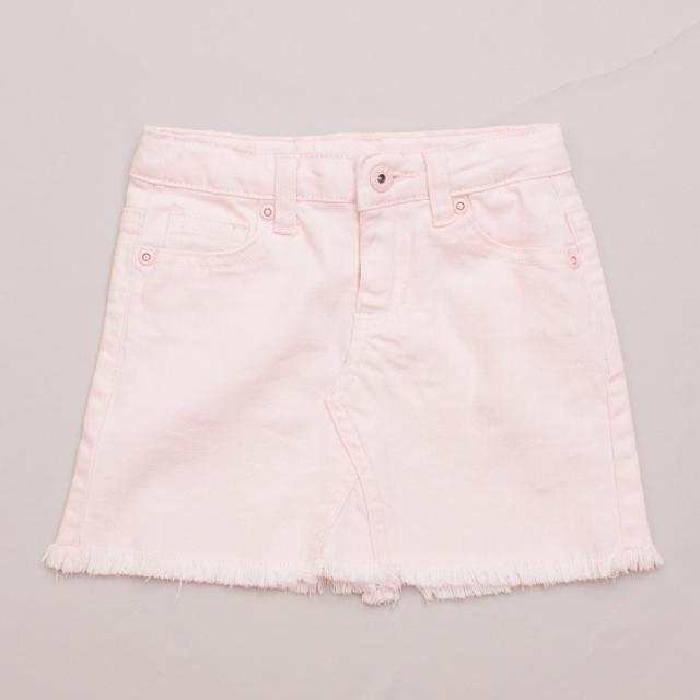 Seed Pink Denim Skirt
