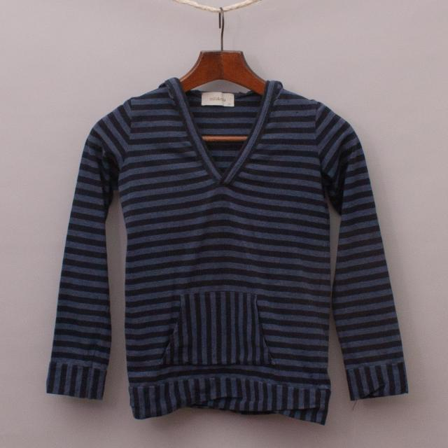 Mill & Mia Striped Hooded Top