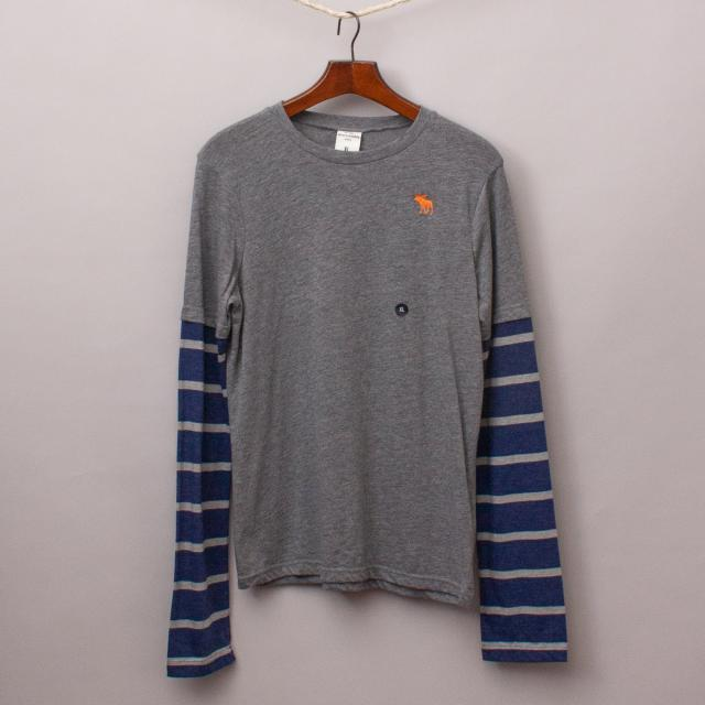 "Abercrombie Two-Layer Long Sleeve ""Brand New"""