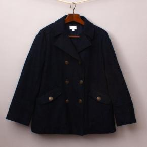 Witchery Navy Blue Pea Coat