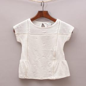 """Cyrillus Embroidered Top """"Brand New"""""""
