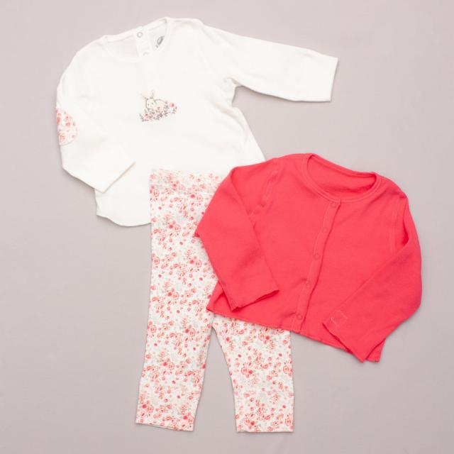 "Petit Bateau Top & Leggings Set ""Brand New"""