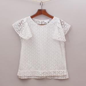 Witchery Broderie Anglaise Top