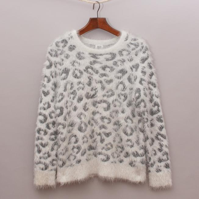Seed Leopard Fluffy Jumper