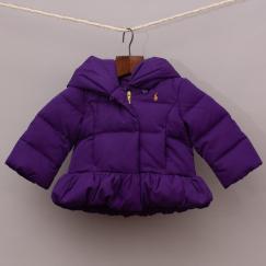 Ralph Lauren Purple Puffer Jacket