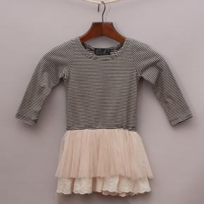 Oobi Striped & Tulle Dress