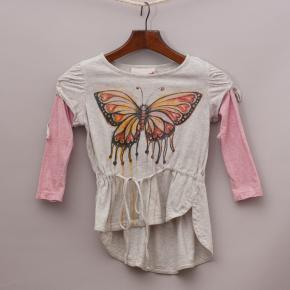 Paper Wings Organic Butterfly Top