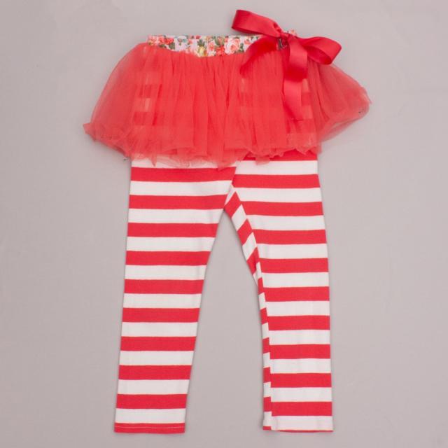 Oobi Striped Leggings & Skirt
