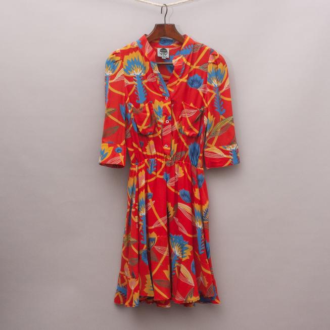 State of Georgia Silk Dress