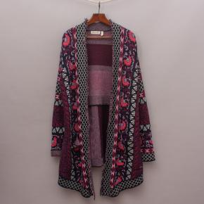 Ghanda Co. Patterned Long Cardigan