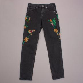H&M Embroidered Jeans