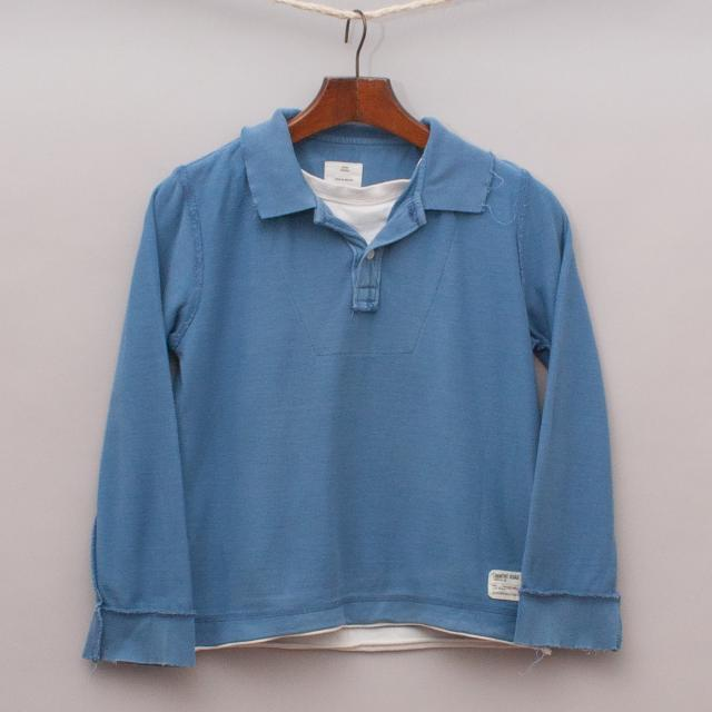 Country Road Long Sleeve Polo Shirt
