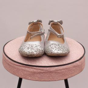 Silver and Glitter Ballet Flats - AU 7