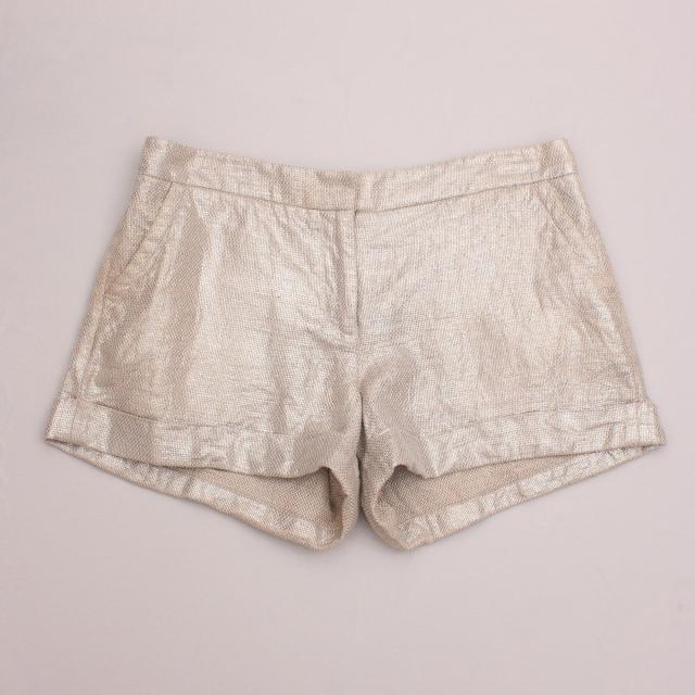 Mint Metallic Shorts