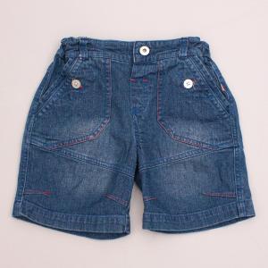 Plum Detailed Denim Shorts