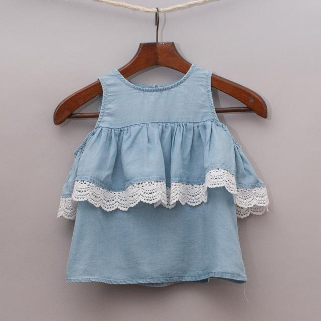 Seed Chambray Detailed Top