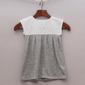Gap Grey & White Dress
