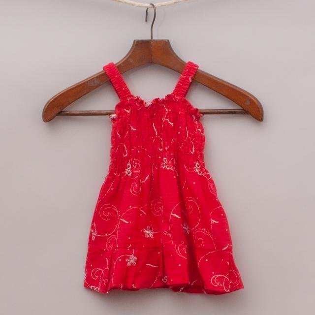 Red Embellished Top