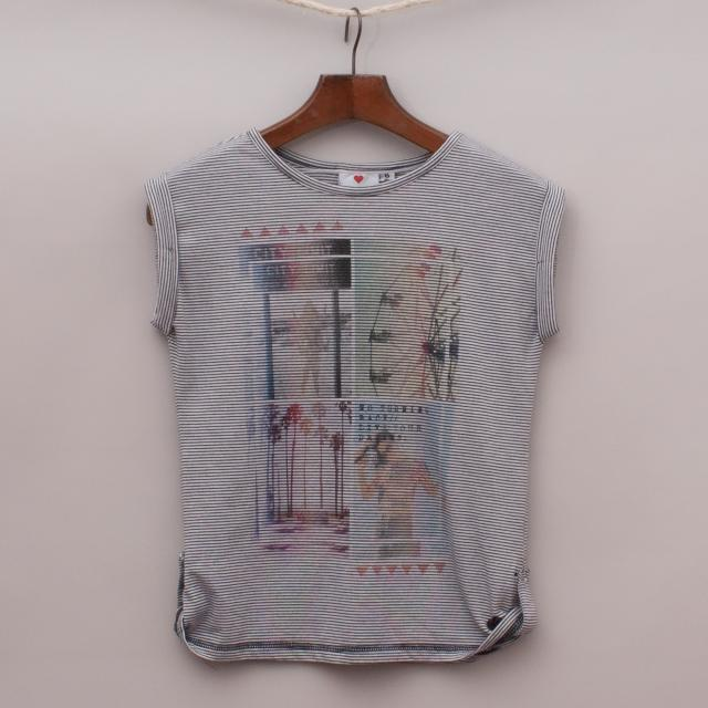 """Eve's Sister Striped T-Shirt """"Brand New"""""""
