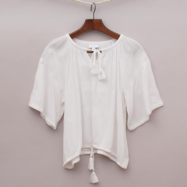 Witchery White Sheer Top