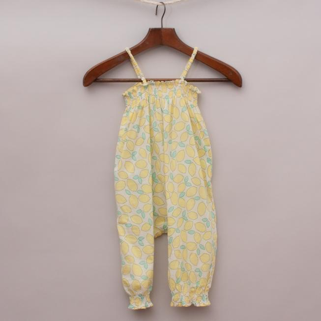 Country Road Lemon Jumpsuit