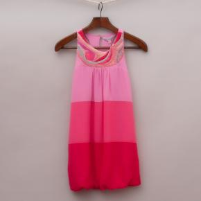 "Tahlia Pink Embellished Dress ""Brand New"""