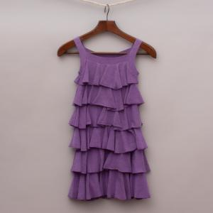"Mini Metallics Ruffled Dress ""Brand New"""