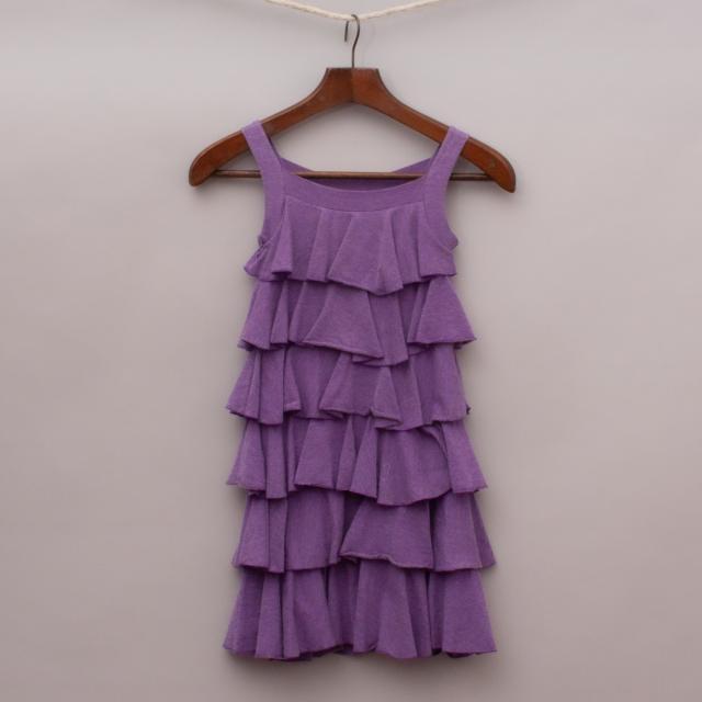 """Mini Metallics Ruffled Dress """"Brand New"""""""