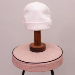 Pink & White Striped Beanie - Newborn
