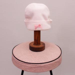 Pink Bow Beanie - Newborn