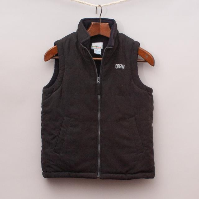 "Andy & Crew Padded Vest ""Brand New"""