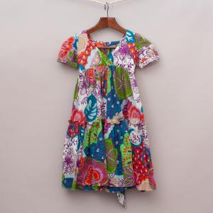 One Red Fly Patterned Dress