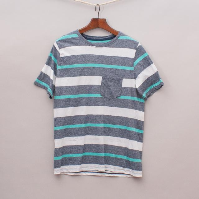 H&M Organic Cotton Striped T-Shirt