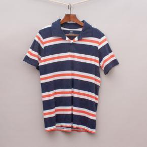 H&M Organic Cotton Striped Polo Shirt