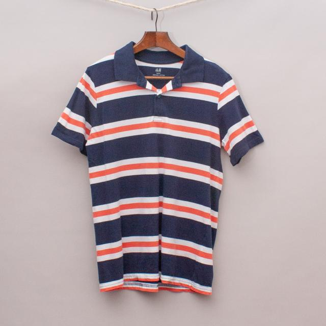 H&M Organic Cotton Striped Polo Shirt