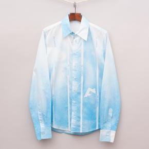 GF Ferre Blue and White Shirt