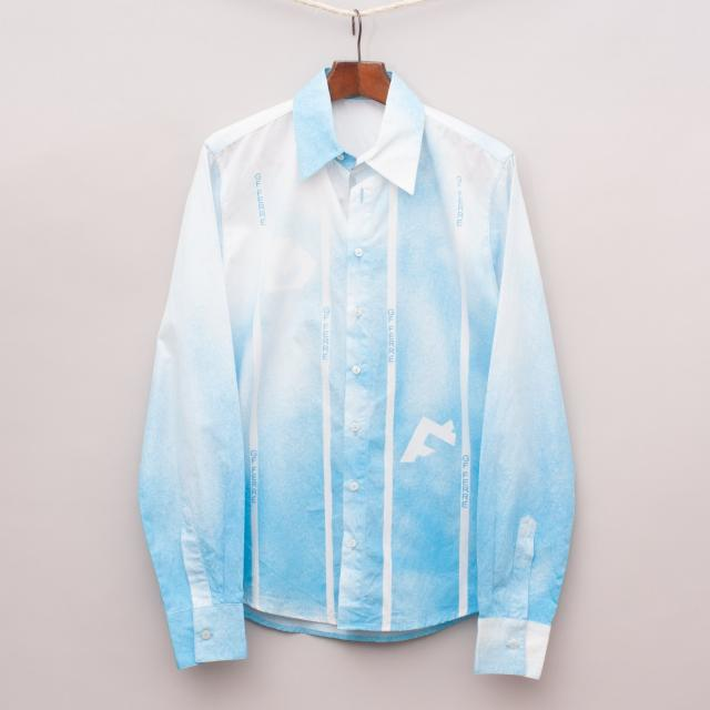 GF Ferre Blue and White Shirt