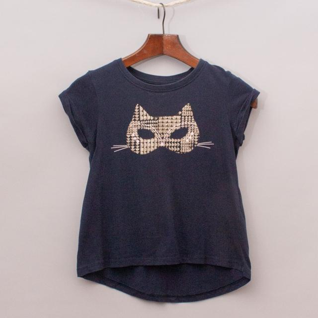 Cotton On Cat Mask T-Shirt